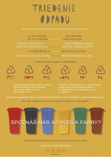 Edukačný plagát malý (A3) - triedenie odpadu