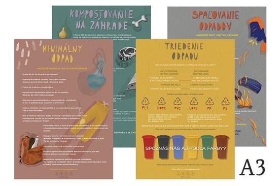 Edukačné plagáty malé (A3) - 4 motívy