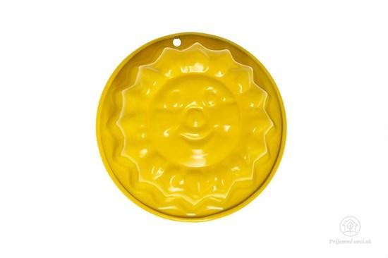 Kovová formička do piesku - žlté slniečko