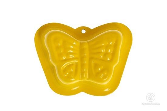 Kovová formička do piesku - žltý motýľ