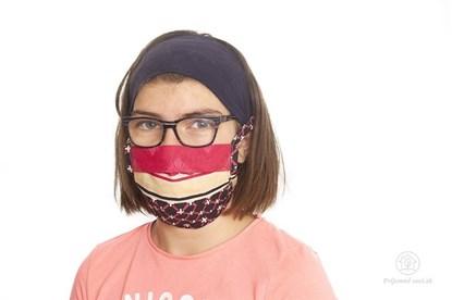 Obrázok pre výrobcu Látkové rúško na tvár pre deti - skladané