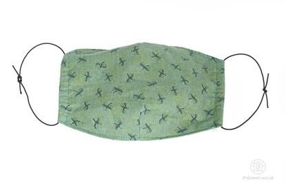 Obrázok pre výrobcu Látkové rúško na tvár pre deti - zelené