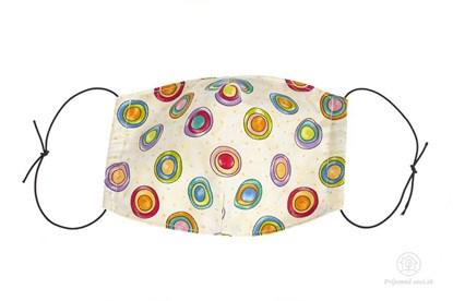 Obrázok pre výrobcu Látkové rúško na tvár pre deti - s guličkami