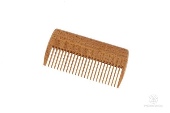Drevený hrebeň na bradu - riedky