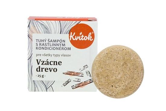 Tuhý šampón Kvitok - vzácne drevo 25g