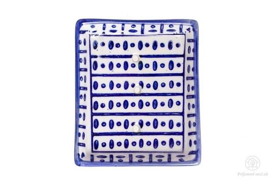 Keramická mydelnička obdĺžniková - bodky