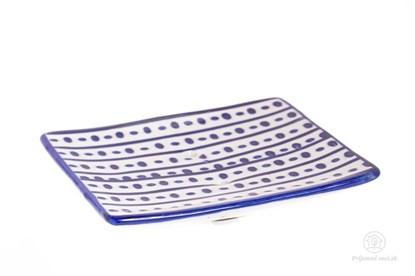 Obrázok pre výrobcu Keramická mydelnička štvorcová - bodky