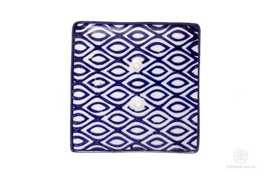 Keramická mydelnička štvorcová - vlnky
