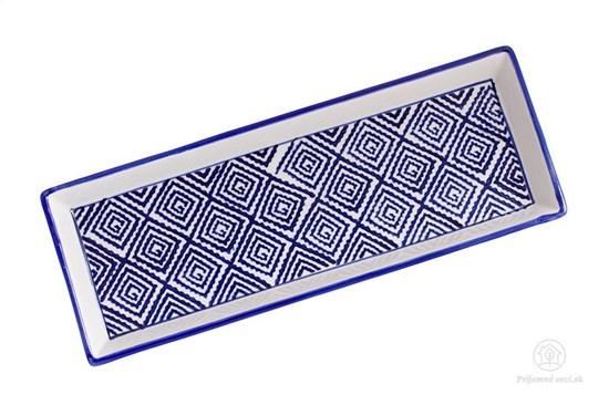 Keramická tácka - štvorčeky