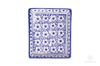 Obrázok pre výrobcu Keramická mydelnička obdĺžniková - kvietky