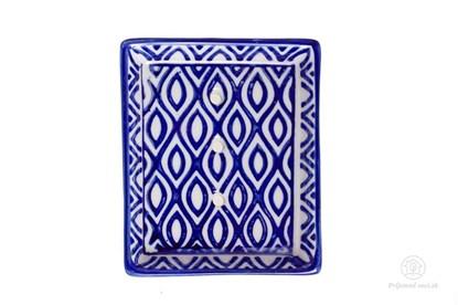 Obrázok pre výrobcu Keramická mydelnička obdĺžniková - vlnky