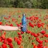 Termofľaša Qwetch - 500ml - modré kvietky
