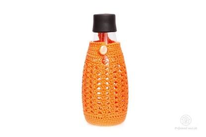 Obrázok pre výrobcu Háčkovaný obal na Retap 800ml s putkom - oranžový