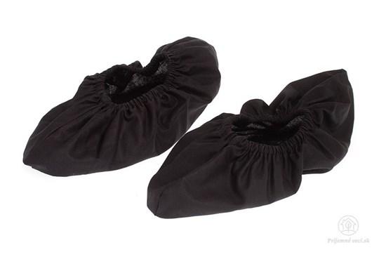 Látkové návleky na topánky - čierne