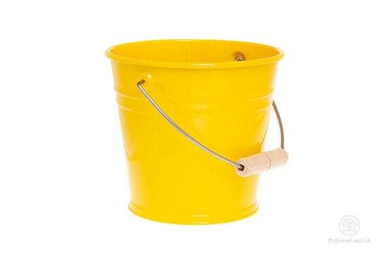 Kovové vedierko - žlté