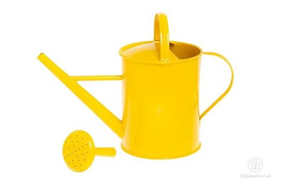 Kovová krhlička - žltá