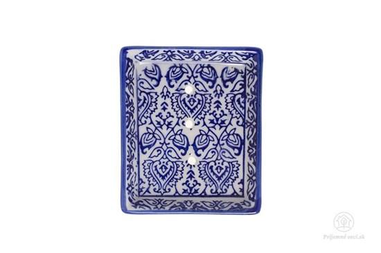 Keramická mydelnička obdĺžniková - reliéf