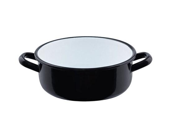 Smaltovaný hrniec čierny - 2l