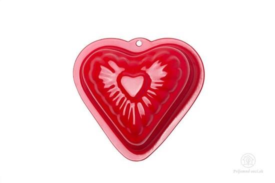 Kovová formička do piesku - červené srdce