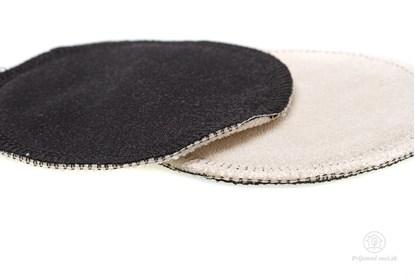 Obrázok pre výrobcu Látkové vložky do podprsenky čierne - froté - 2ks