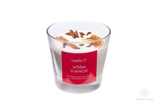 Sójová sviečka - vôňa Vianoc