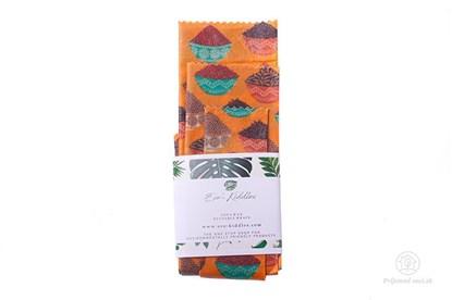Obrázok pre výrobcu Vegan voskovaný obrúsok - set (3ks) - koreniny