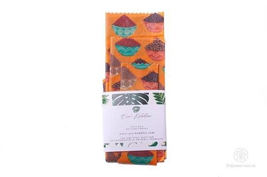 Vegan voskovaný obrúsok - set (3ks) - koreniny
