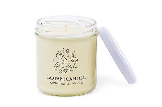 Sójová sviečka Botanicandle - malá - céder, santal, klinček