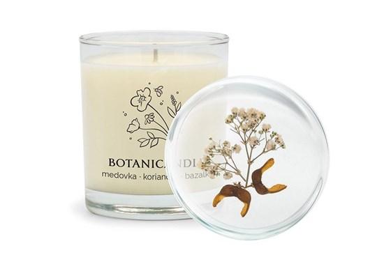 Sójová sviečka Botanicandle - veľká - medovka, koriander, bazalka