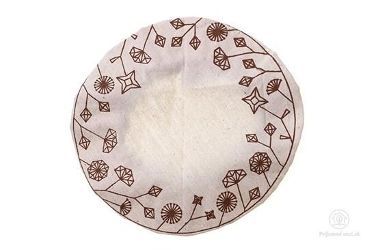 Ekoveko kvety - pokrývka na misu/tanier - malá