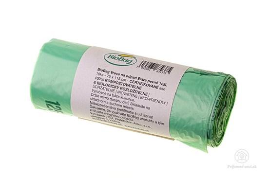 Kompostovateľné vrecia na odpad Biobag - 125l - 10ks