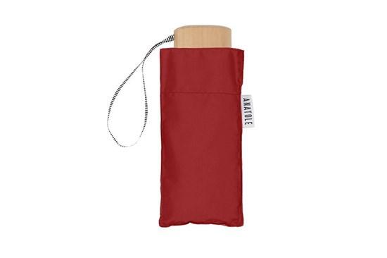 Skladací dáždnik Anatole mini červený - Dauphine
