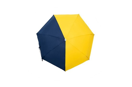 Skladací dáždnik Anatole mini - Sydney - dvojfarebný modrá/horčicová