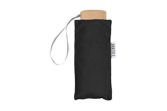 Skladací dáždnik Anatole mini čierny - Jane