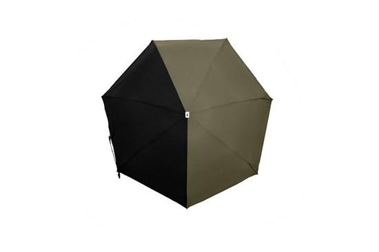 Skladací dáždnik Anatole mini - Alma - dvojfarebný khaki/čierna