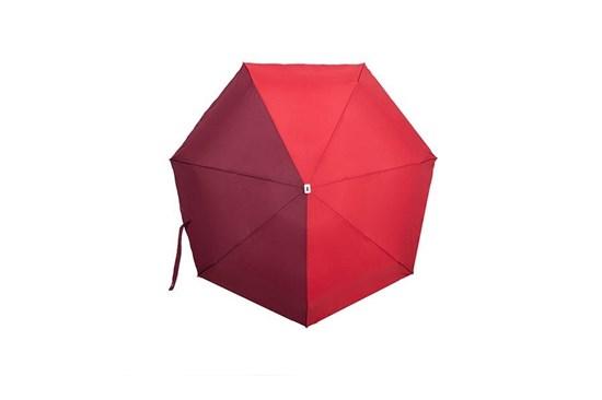 Skladací dáždnik Anatole mini - Jules - dvojfarebný bordová/červená