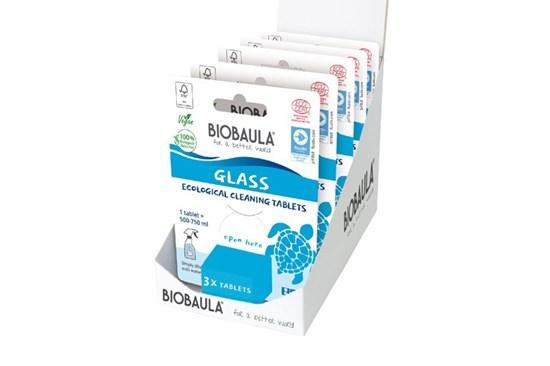 Čistiaci prostriedok Biobaula - tableta 3ks - sklo