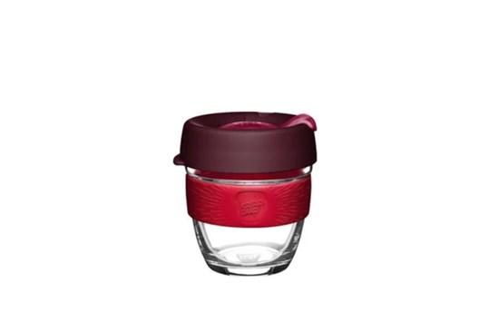 KeepCup S - bordový s červeným úchytom