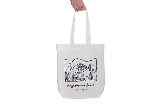 """Látková taška """"Aj ja chránim planétu"""" natural"""