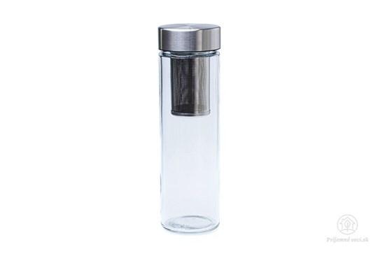 Sklenená fľaša Simax Pure Aqua so sitkom - 0,5l