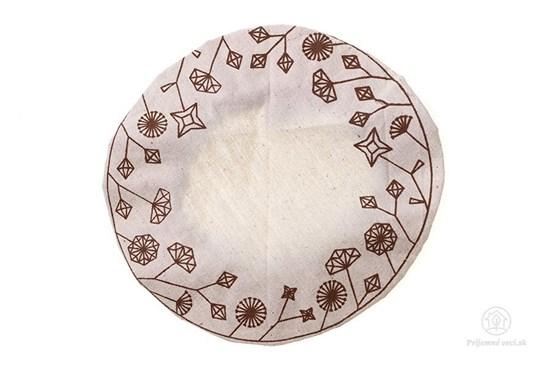 Ekoveko kvety - pokrývka na misu/tanier - veľká