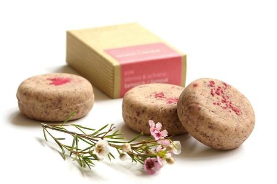 Šampúch s kondicionérom Ponio - pink - 30g