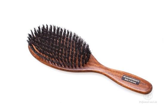 Kefa na vlasy - tmavé bukové drevo a diviačie štetiny