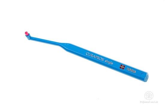 Jednozväzková zubná kefka Curaprox Single - bledomodrá