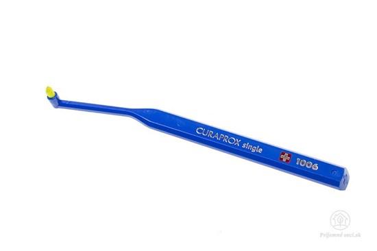 Jednozväzková zubná kefka Curaprox Single - tmavomodrá