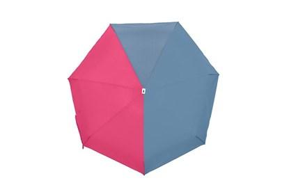 Obrázok pre výrobcu Skladací dáždnik Anatole mini - Jacqueline - dvojfarebný modrosivá/ružová