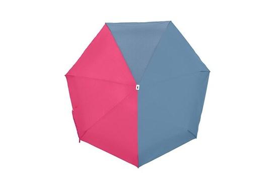 Skladací dáždnik Anatole mini - Jacqueline - dvojfarebný modrosivá/ružová