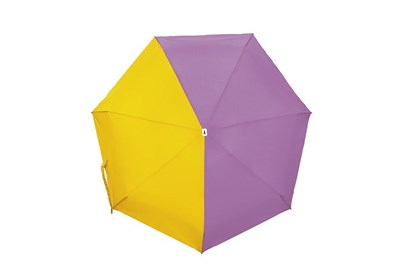 Obrázok pre výrobcu Skladací dáždnik Anatole mini - Lili - dvojfarebný orgovánová/žltá