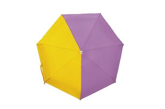 Skladací dáždnik Anatole mini - Lili - dvojfarebný orgovánová/žltá